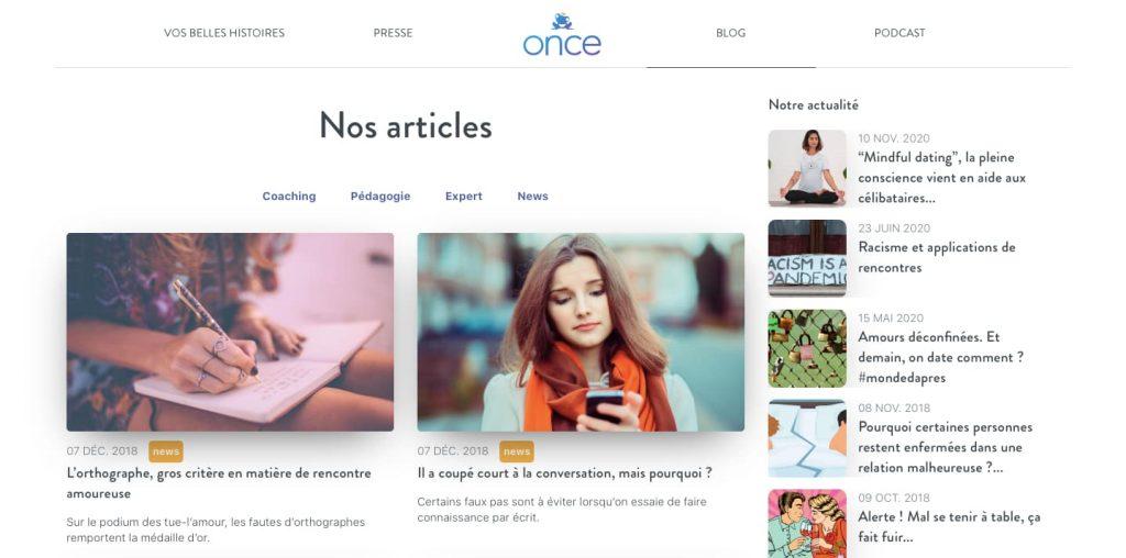 once avis blog