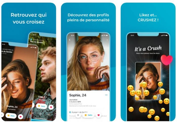application mobile happn